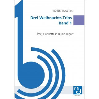 Three Christmas Trios Volume 1 for Trio (flute, clarinet, bassoon) from Robert Wall-1-9790502880514-NDV 1349C