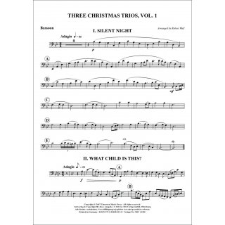 Three Christmas Trios Volume 1 for Trio (flute, clarinet, bassoon) from Robert Wall-5-9790502880514-NDV 1349C